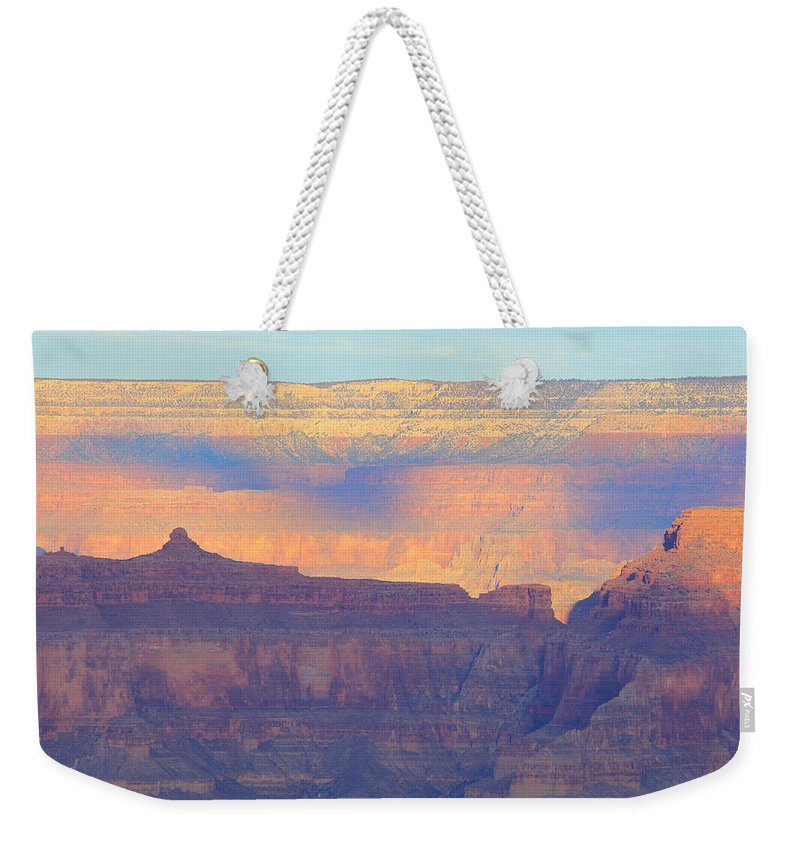 Nature Weekender Tote Bag featuring the photograph Grand Canyon Dawn 4 by Noa Mohlabane
