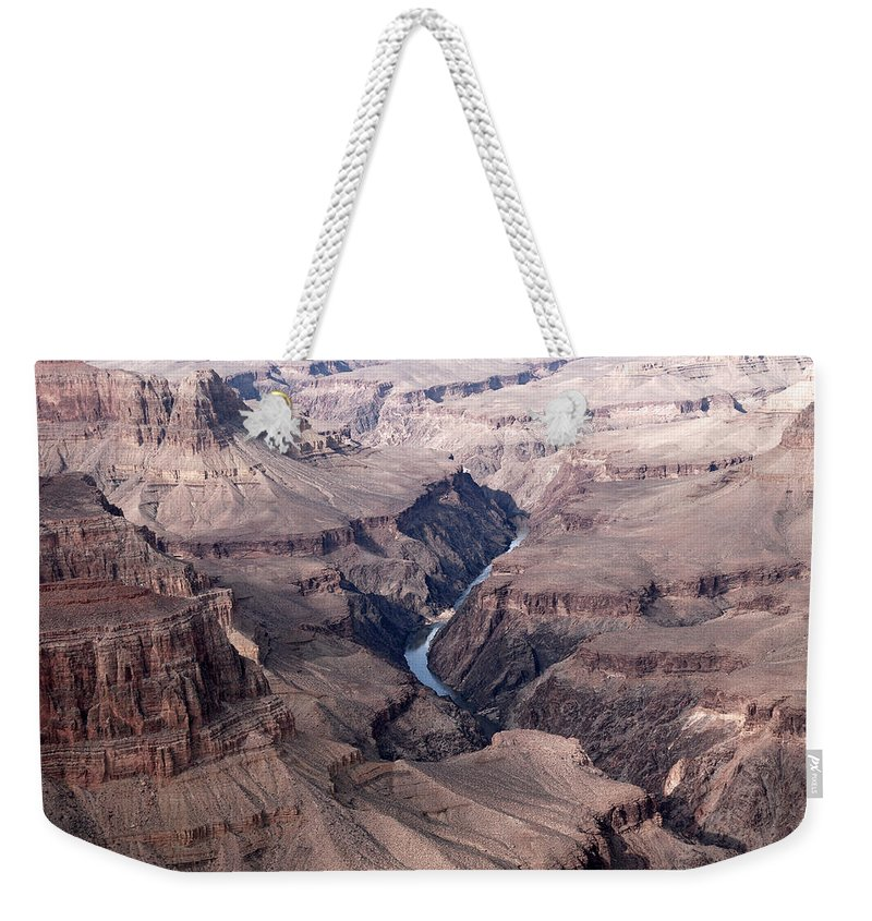American Landmarks Weekender Tote Bag featuring the photograph Grand Canyon by Melany Sarafis