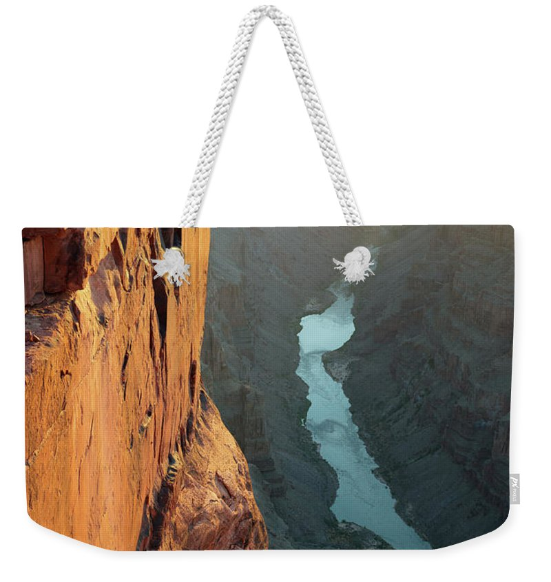 Scenics Weekender Tote Bag featuring the photograph Grand Canyon Toroweap Point Morning by Kjschoen
