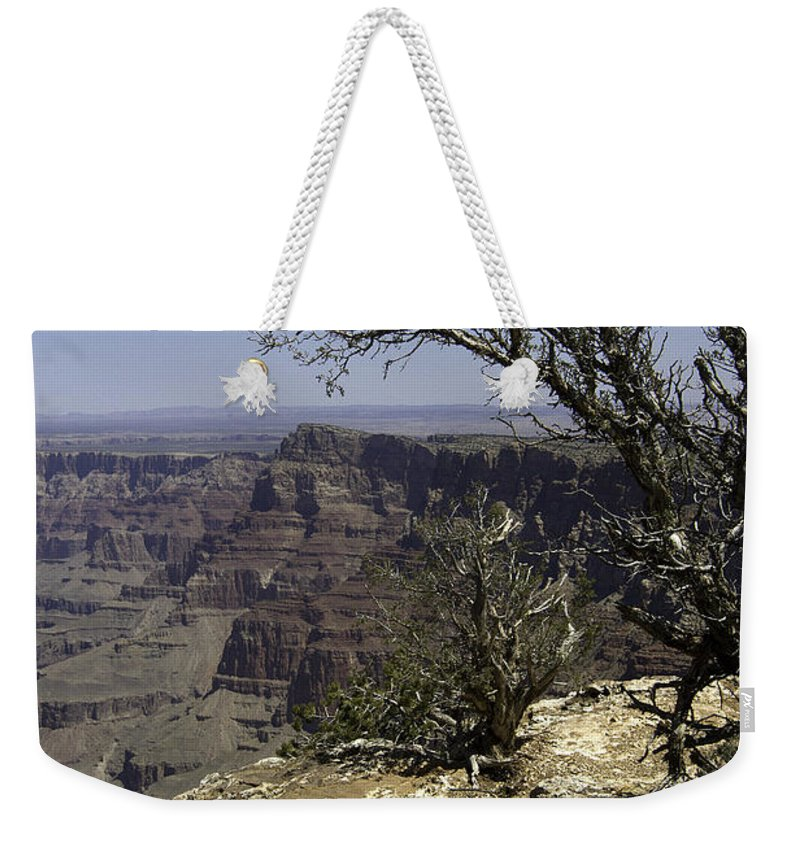 Usa Weekender Tote Bag featuring the photograph Grand Canyon View by Peter Lloyd