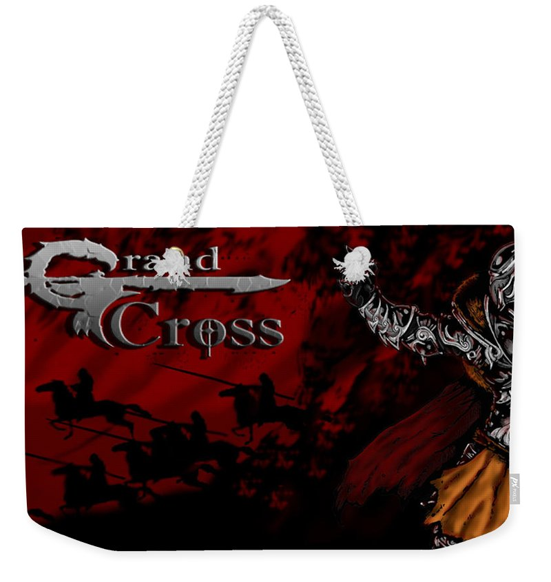 Grand Cross Weekender Tote Bag featuring the digital art Grand Cross Poster Art by Derrick Bruno-Rathgeber
