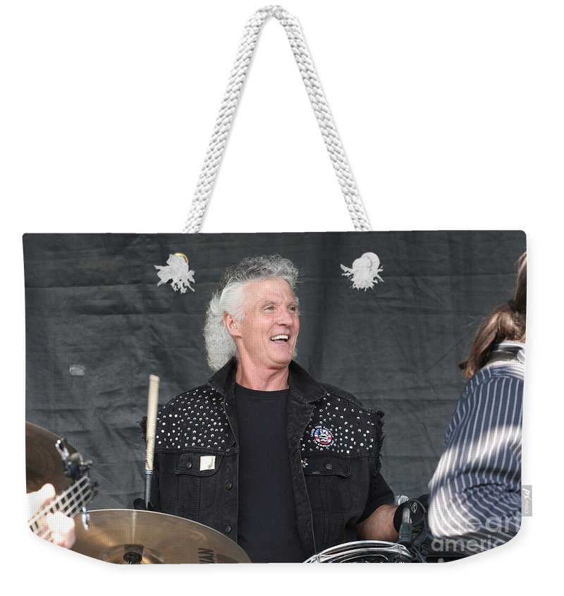 Downloads Weekender Tote Bag featuring the photograph Grand Funk Railroad by Concert Photos