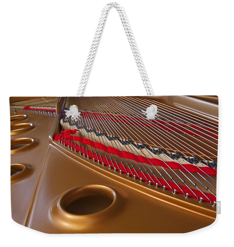 Piano Weekender Tote Bag featuring the photograph Grand Piano by Ann Horn