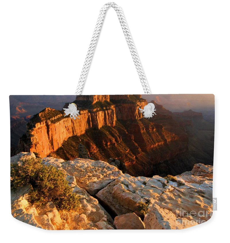 Grand Canyon Weekender Tote Bag featuring the photograph Grand Soft Light by Adam Jewell