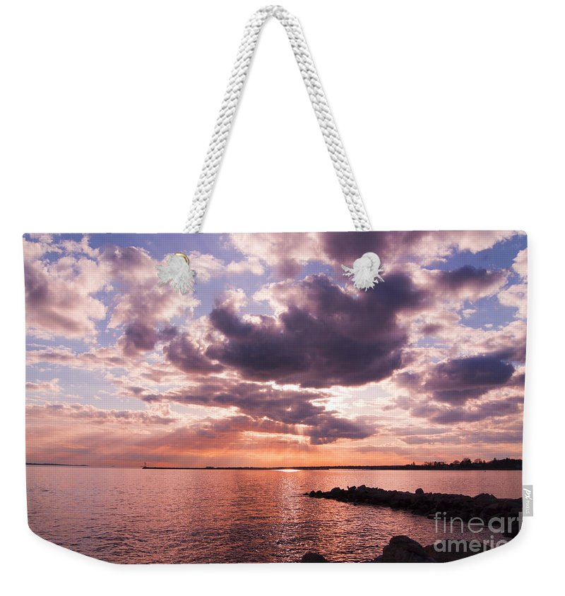 Sunset Weekender Tote Bag featuring the photograph Grandiose by Joe Geraci