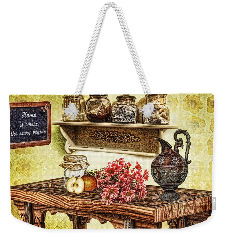 Grandma's Kitchen Weekender Tote Bag featuring the photograph Grandma's Kitchen by Mo T