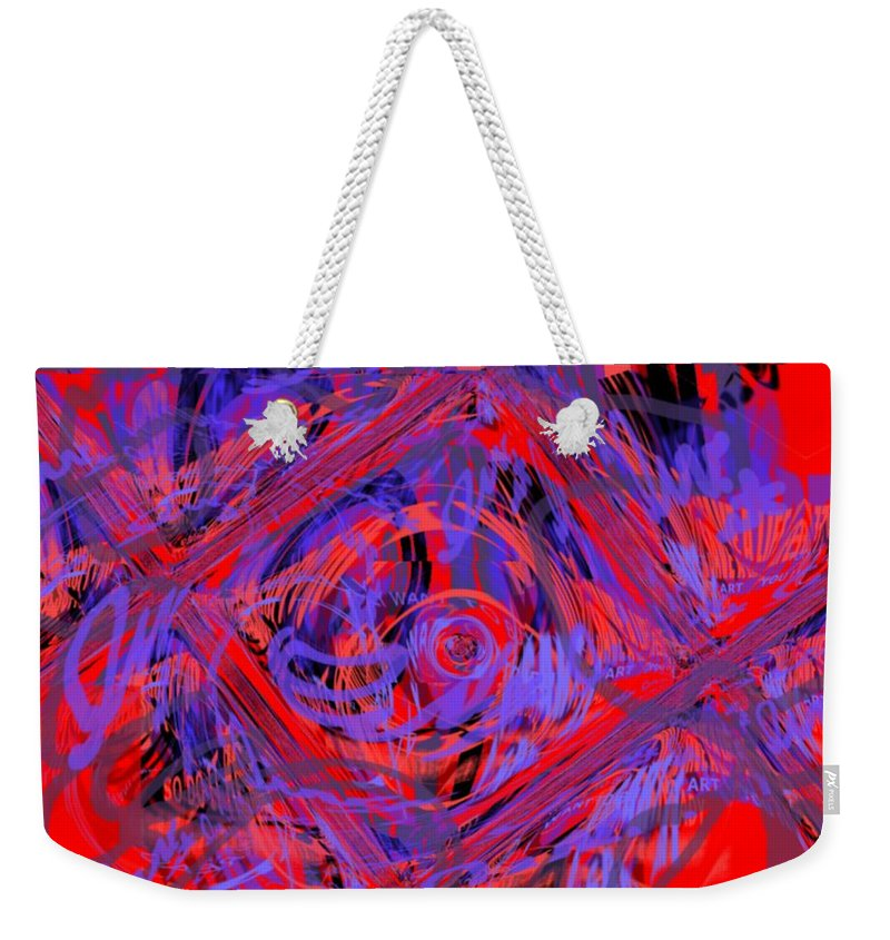 Graphic Art Weekender Tote Bag featuring the digital art Graphic Explosion by Pharris Art