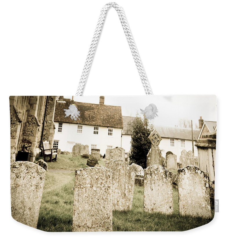 Cemetery Weekender Tote Bag featuring the photograph Grave Yard by Tom Gowanlock