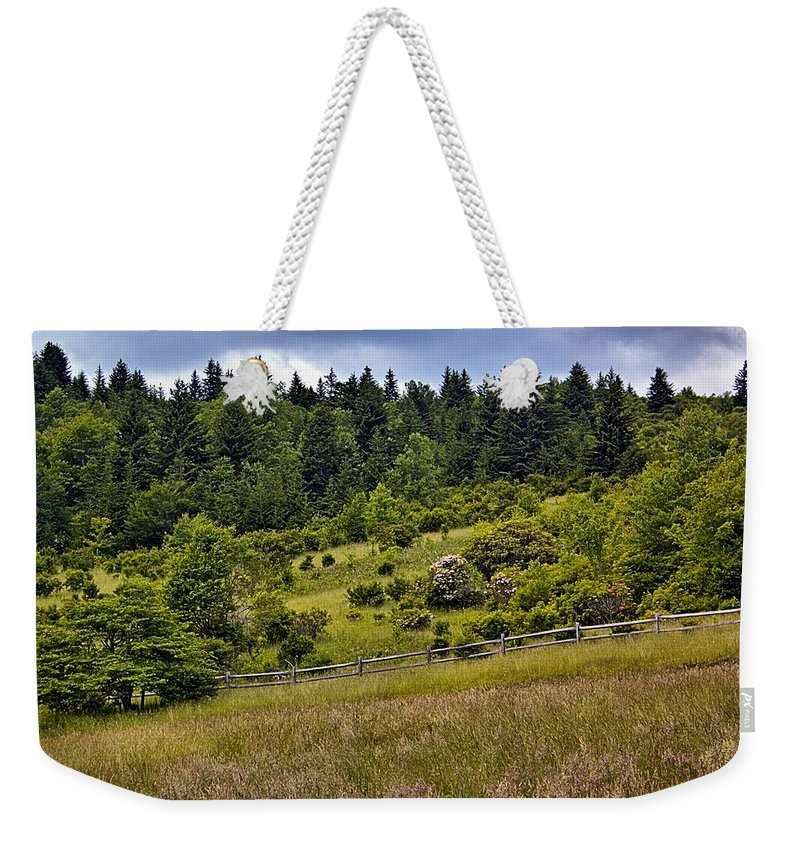 Grayson Highlands State Park Weekender Tote Bag featuring the photograph Grayson Highlands by Mel Hensley