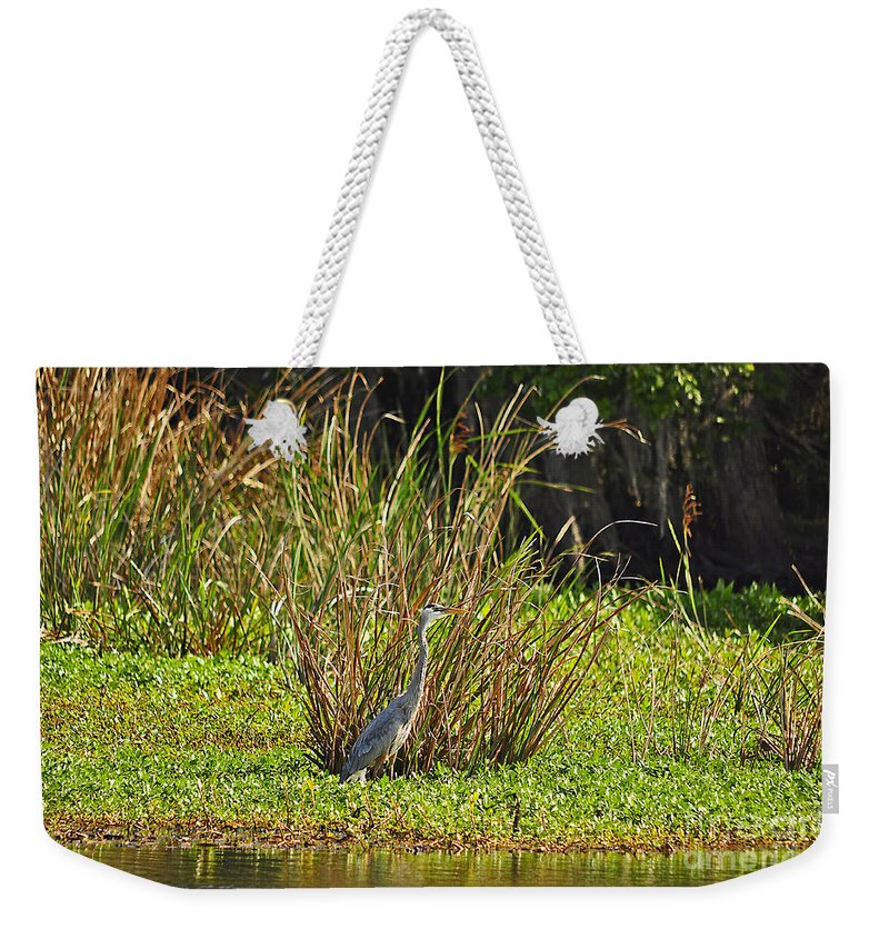 Heron Weekender Tote Bag featuring the photograph Great Blue Heron by Al Powell Photography USA