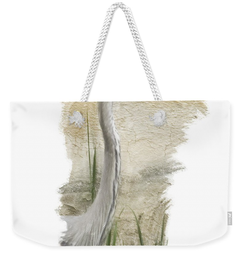 Great Blue Weekender Tote Bag featuring the photograph Great Blue by James Ekstrom