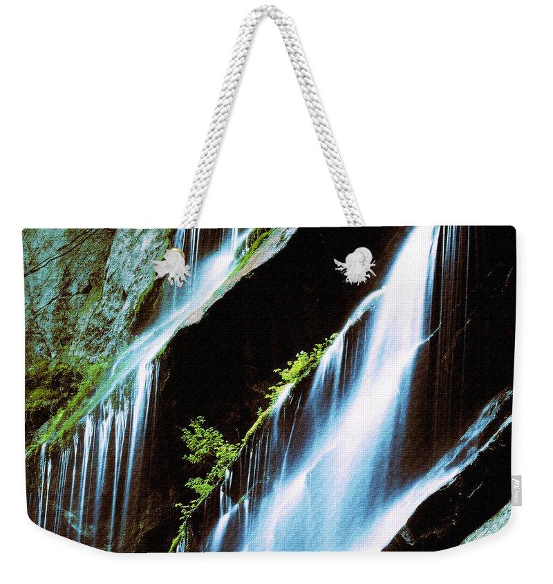 Waterfall Weekender Tote Bag featuring the digital art Great Fall by Lyriel Lyra