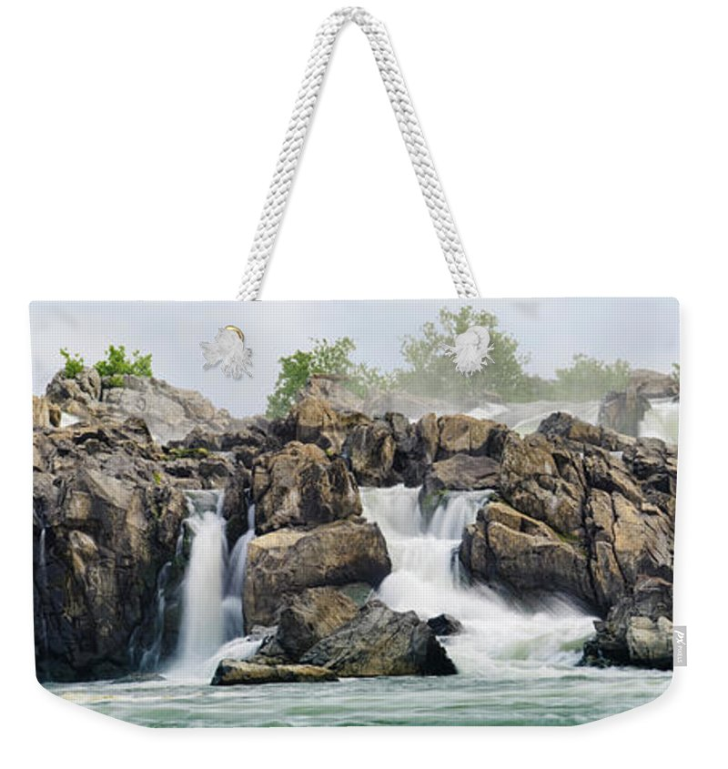 Scenics Weekender Tote Bag featuring the photograph Great Falls Panoramic by Ogphoto