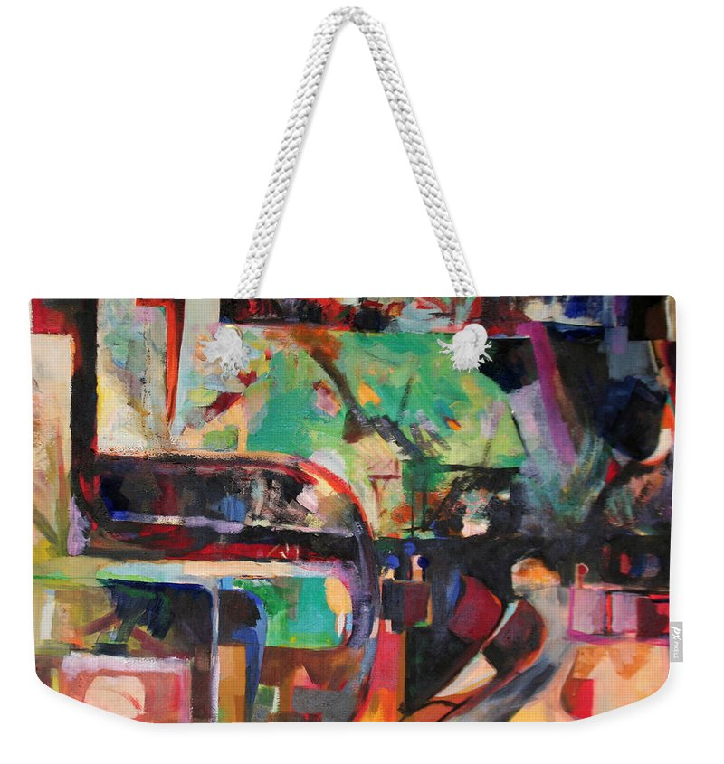 Jewish Art Weekender Tote Bag featuring the painting Great Is Peace by David Baruch Wolk