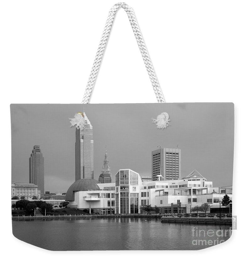 Cleveland Weekender Tote Bag featuring the photograph Great Lakes Science Center Cleveland by Bill Cobb