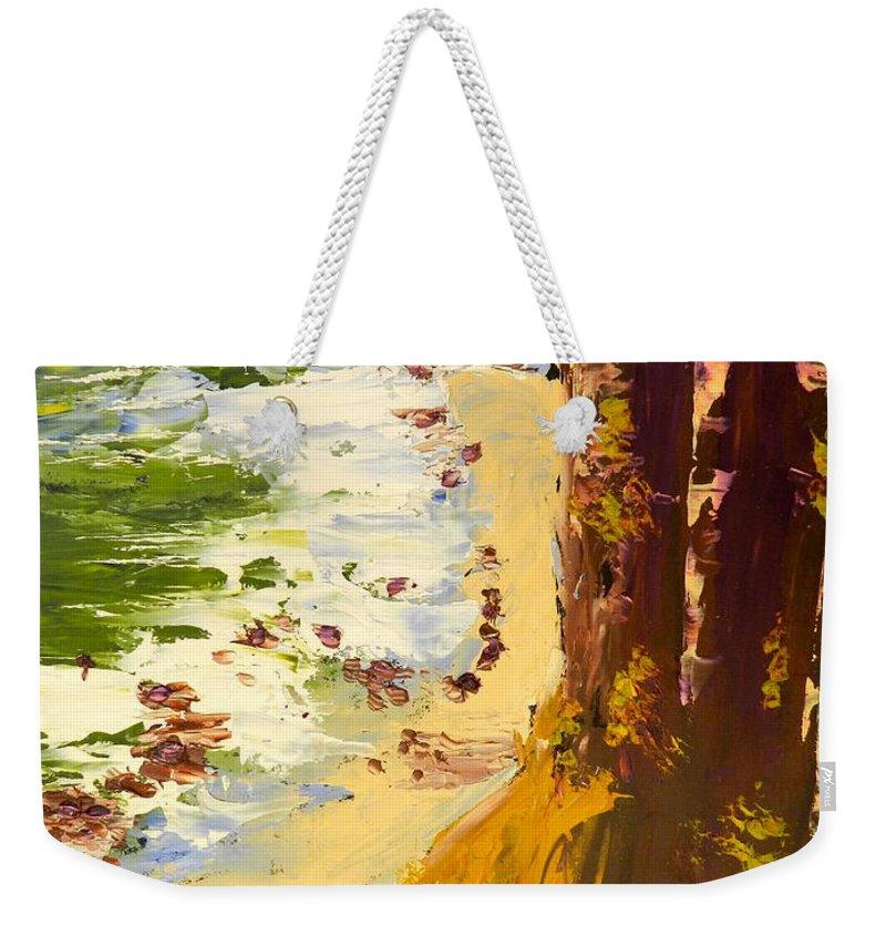 Impressionist Weekender Tote Bag featuring the painting Great Ocean Road by Pamela Meredith