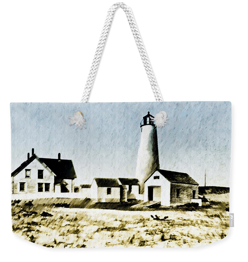 Great Weekender Tote Bag featuring the photograph Great Point Lighthouse Nantucket by Bill Cannon