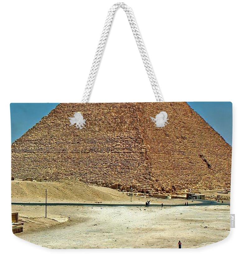 Great Pyramid Of Giza Weekender Tote Bag featuring the photograph Great Pyramid Of Giza by Steve Harrington