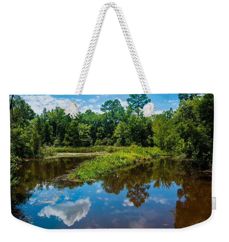 Uwf Weekender Tote Bag featuring the photograph Great Reflections by Jon Cody