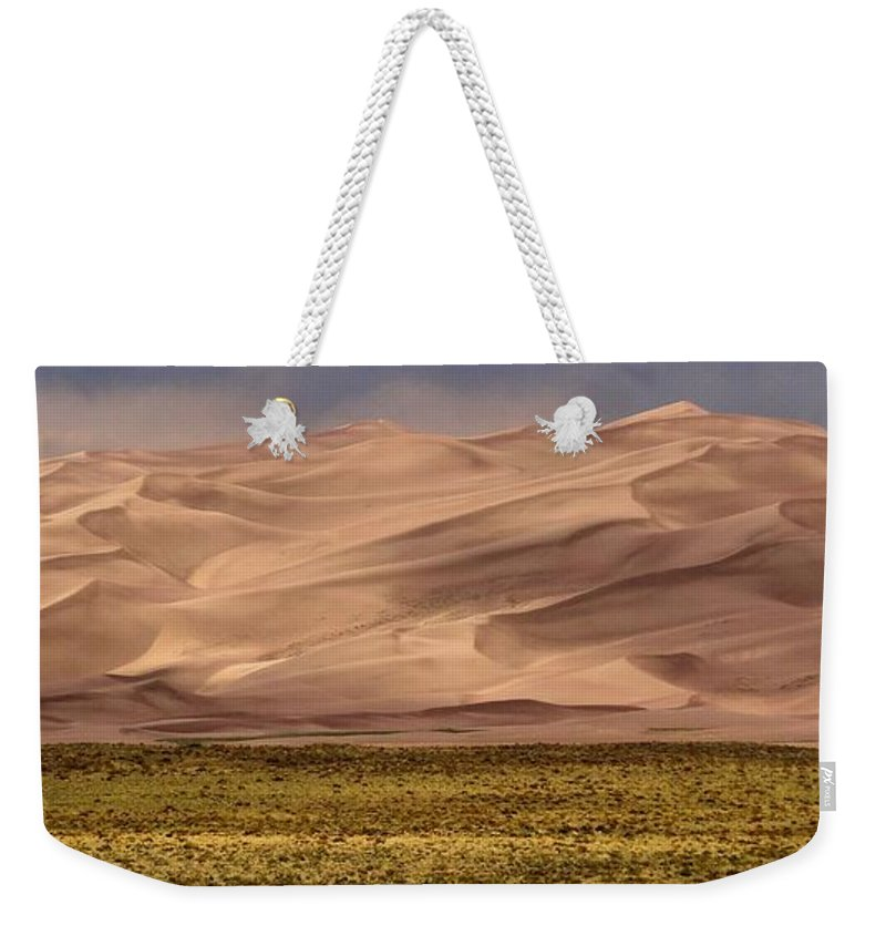 Great Sand Dunes In Colorado Weekender Tote Bag featuring the photograph Great Sand Dunes In Colorado by Dan Sproul