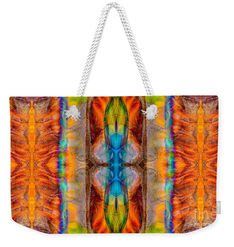 16x9 Weekender Tote Bag featuring the digital art Great Spirit Abstract Pattern Artwork By Omaste Witkowski by Omaste Witkowski