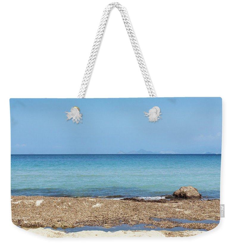 Greek Culture Weekender Tote Bag featuring the photograph Greek Sea by Deimagine