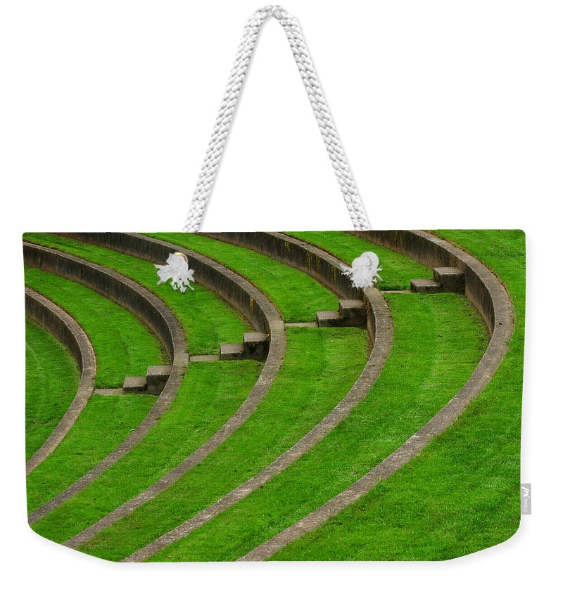 Curve Weekender Tote Bag featuring the photograph Green Curves And Steps by Robert Woodward