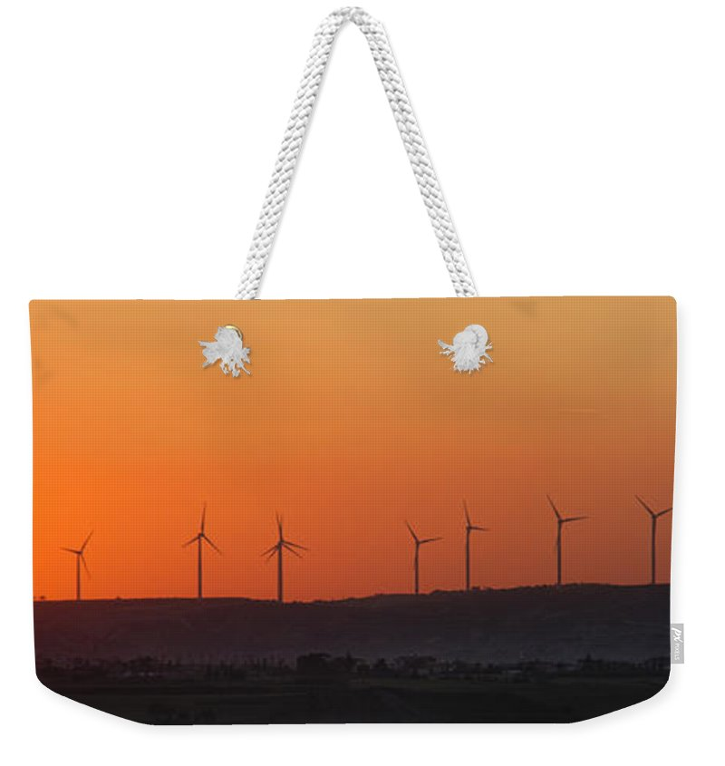 Air Weekender Tote Bag featuring the photograph Green Energy by Stelios Kleanthous