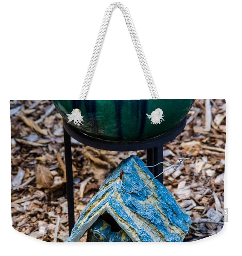 Green Weekender Tote Bag featuring the photograph Green Globe by Douglas Barnett