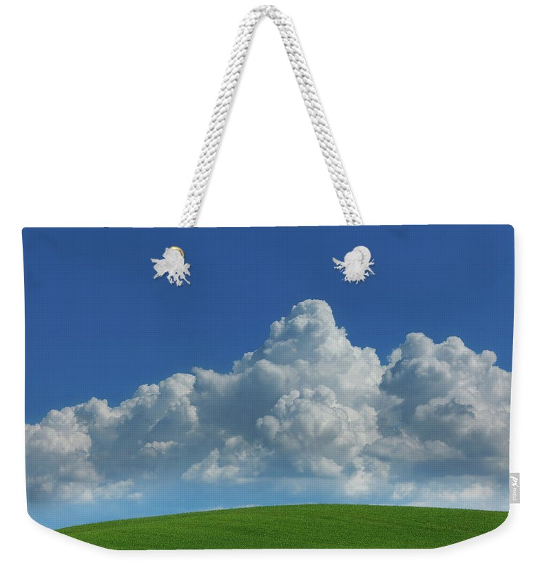 Scenics Weekender Tote Bag featuring the photograph Green Hills Of Tuscany In The Spring by Mammuth