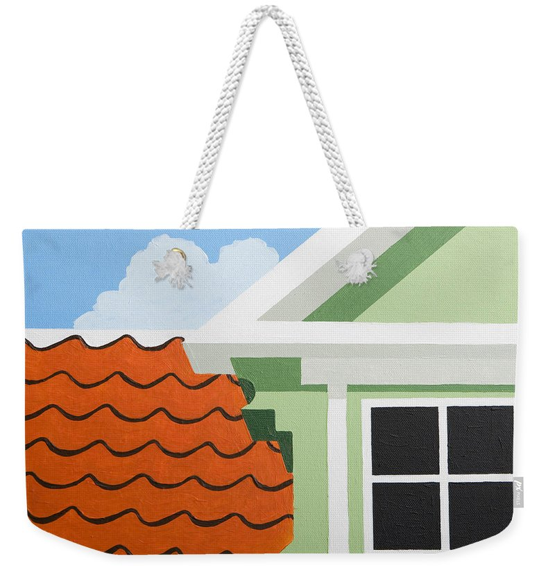 Painting Weekender Tote Bag featuring the painting Green House by Trudie Canwood