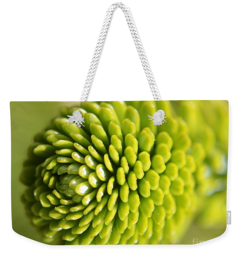 Green Weekender Tote Bag featuring the photograph Green Inifinity by Kenny Glotfelty