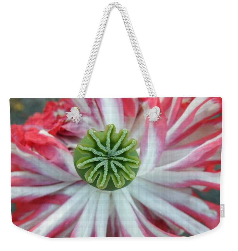 Green Weekender Tote Bag featuring the photograph Green Star by Brian Boyle