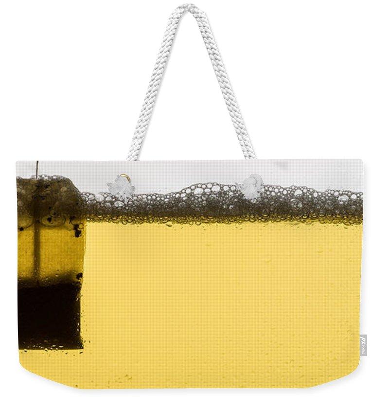 Tea Weekender Tote Bag featuring the photograph Green Tea by Steve Gadomski