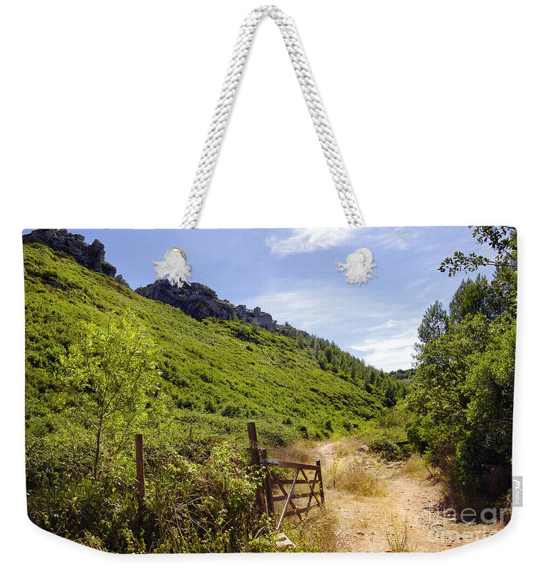Background Weekender Tote Bag featuring the photograph Green Valley by Carlos Caetano