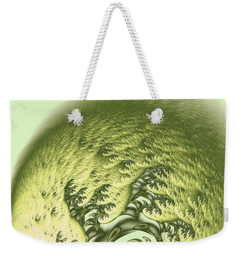 Malakhova Weekender Tote Bag featuring the digital art Green Wave by Anastasiya Malakhova