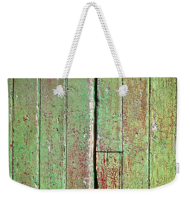 Aged Weekender Tote Bag featuring the photograph Green Wood by Tom Gowanlock
