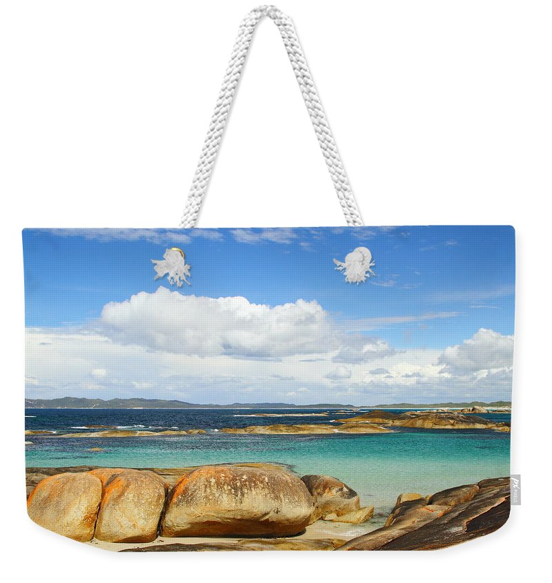 Greens Pool Weekender Tote Bag featuring the photograph Greens Pool - Western Australia 2am-112587 by Andrew McInnes