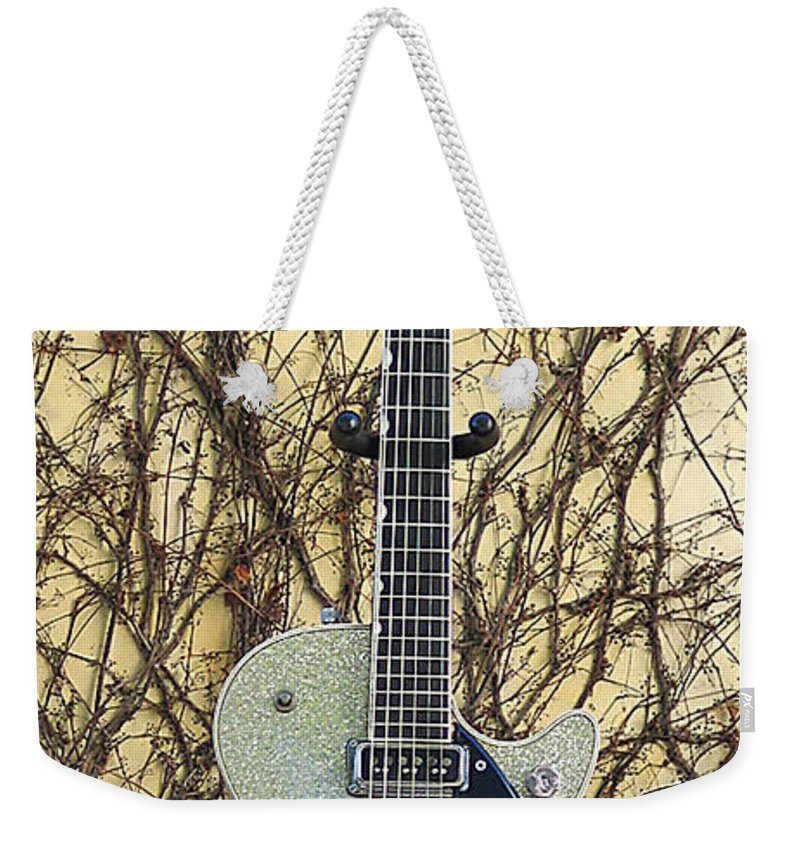 Gretch Silverjet Electric Guitar 1958 Weekender Tote Bag featuring the photograph Gretch Silverjet Guitar 1958 by Phyllis Tarlow
