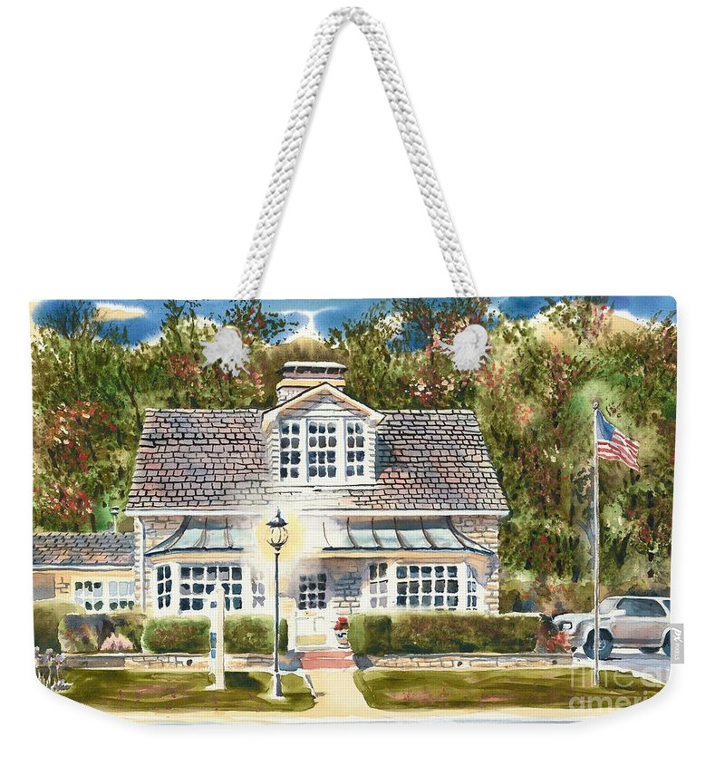 Greystone Inn Ii Weekender Tote Bag featuring the painting Greystone Inn II by Kip DeVore