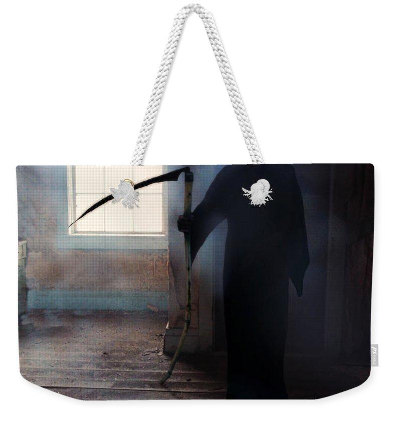 Reaper Weekender Tote Bag featuring the photograph Grim Reaper by Jill Battaglia