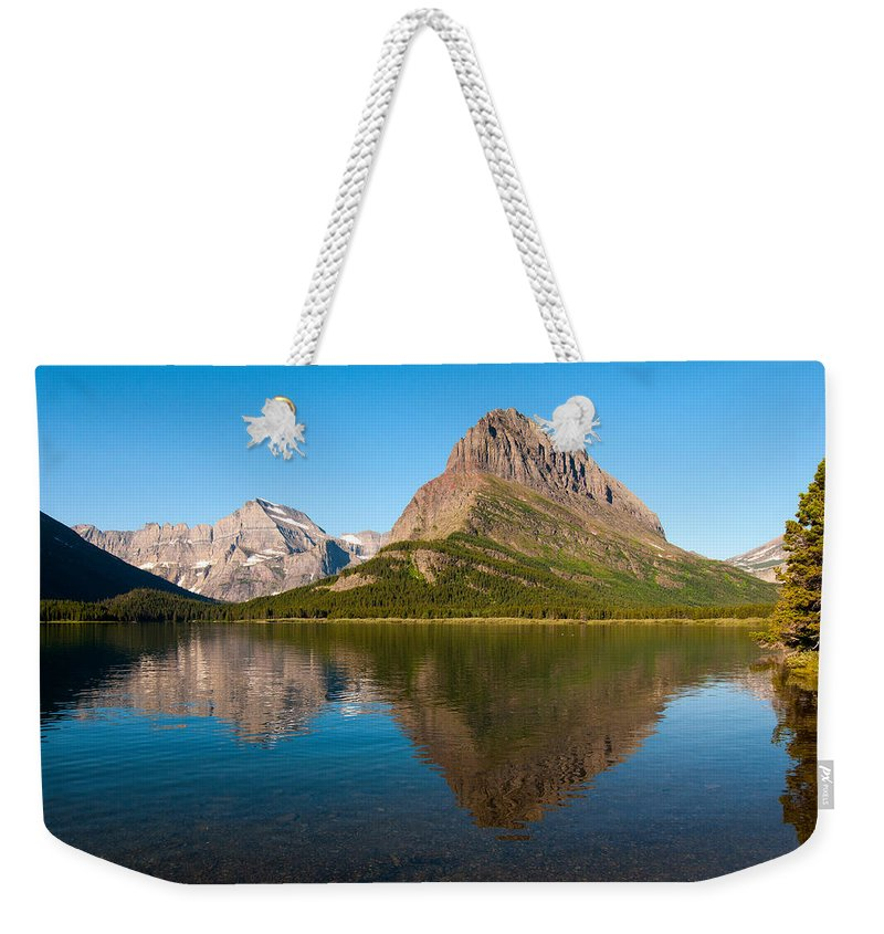 Glacier Weekender Tote Bag featuring the photograph Grinnell Point by Steve Stuller
