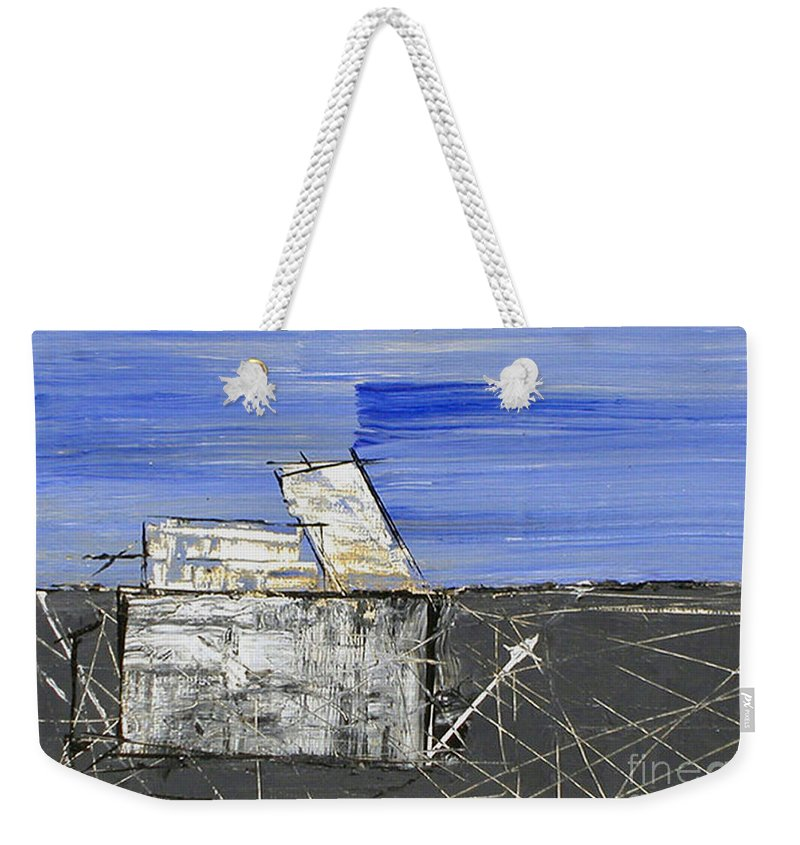 9/11 Weekender Tote Bag featuring the painting Ground Zero by Pamela Canzano