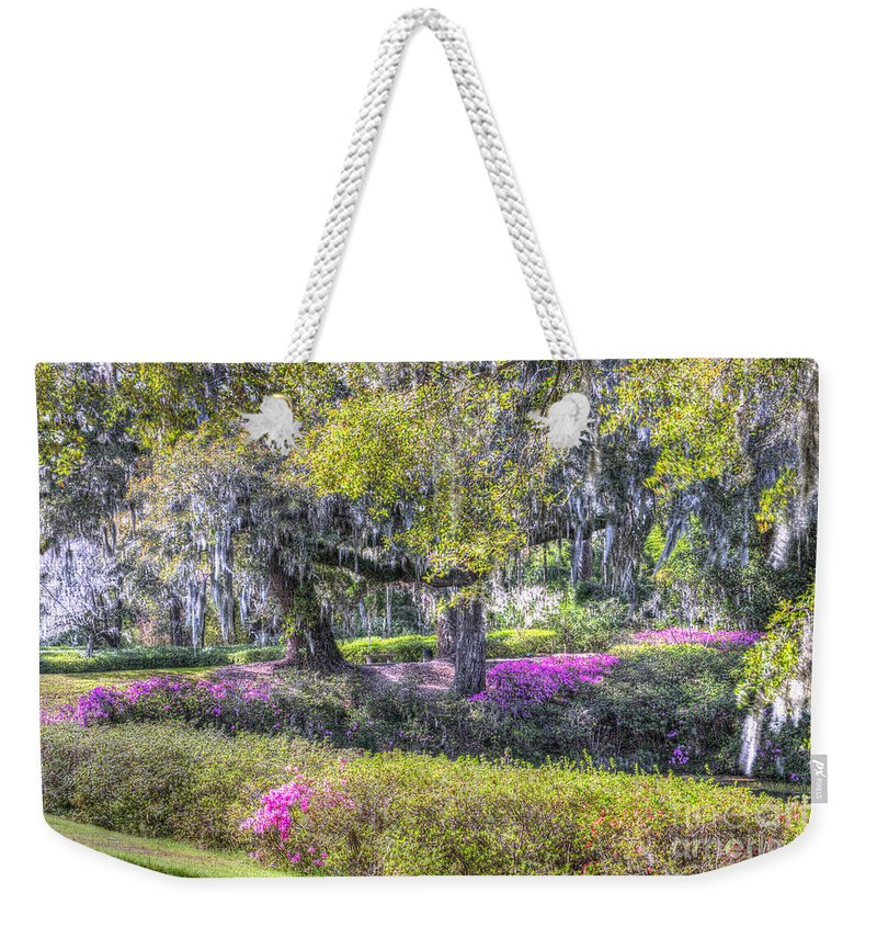 Azalea Weekender Tote Bag featuring the photograph Grounds Of Middleton by Dale Powell