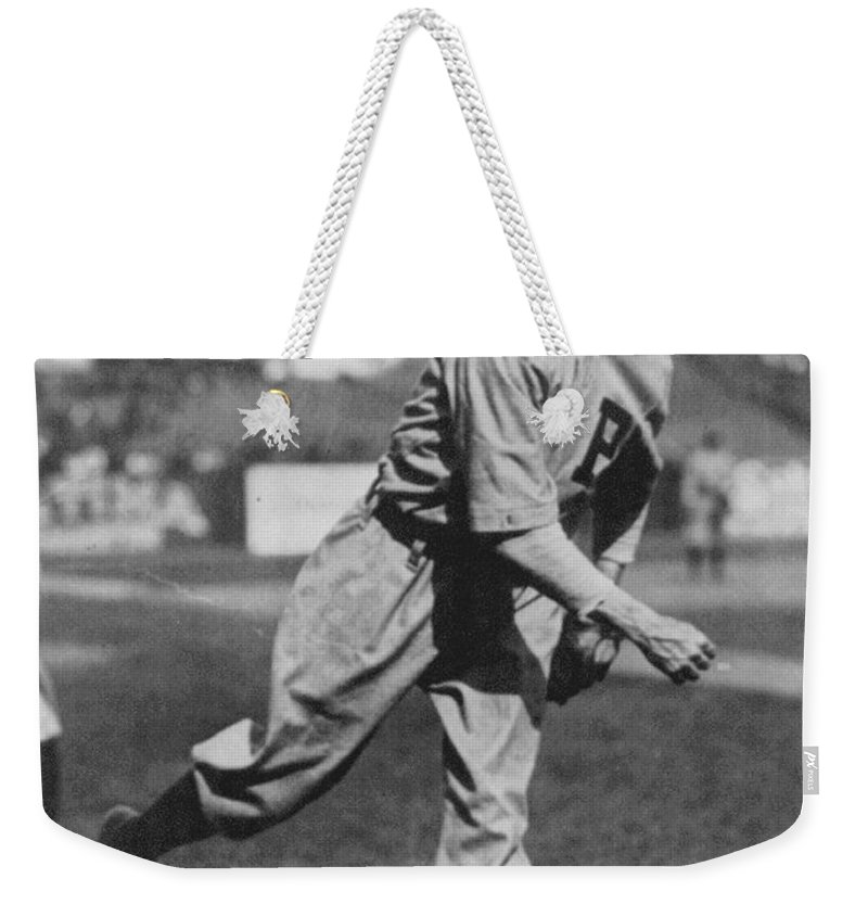 Grover Cleveland Alexander Weekender Tote Bag featuring the photograph Grover Cleveland Alexander 1915 by Unknown
