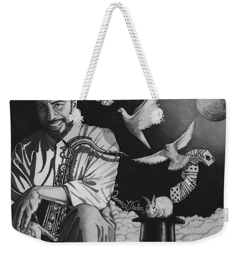 Watercolor Weekender Tote Bag featuring the painting Grover Washington Jr by JL Vaden