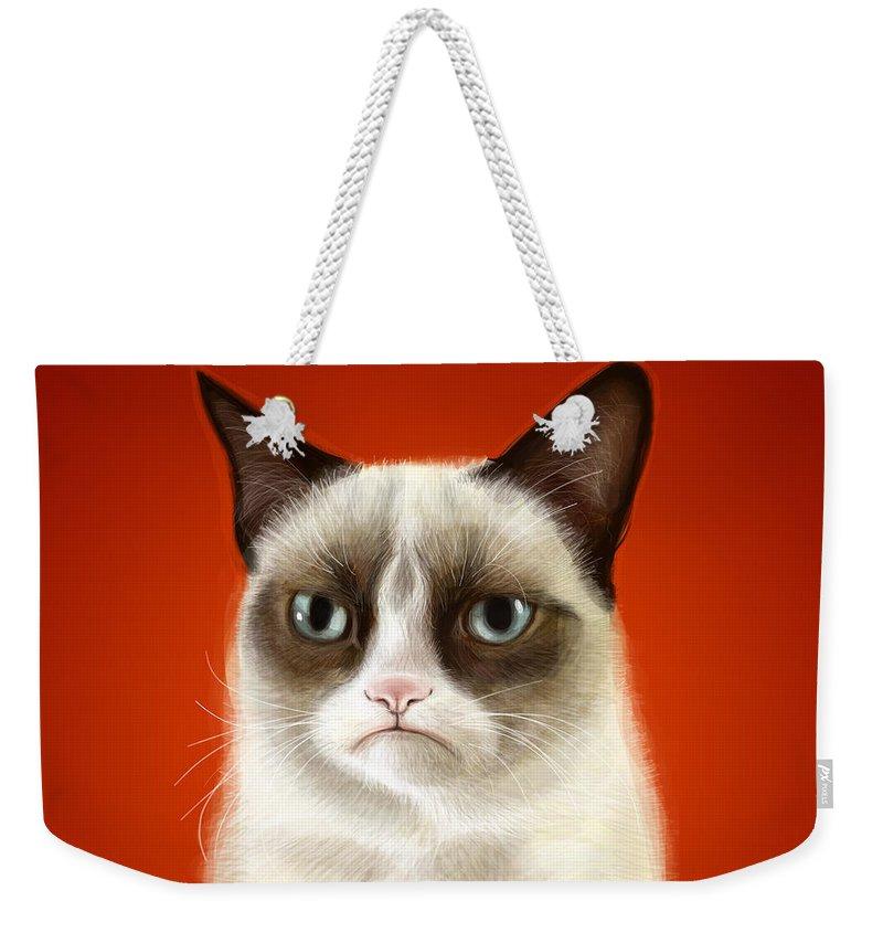 Cat Weekender Tote Bags