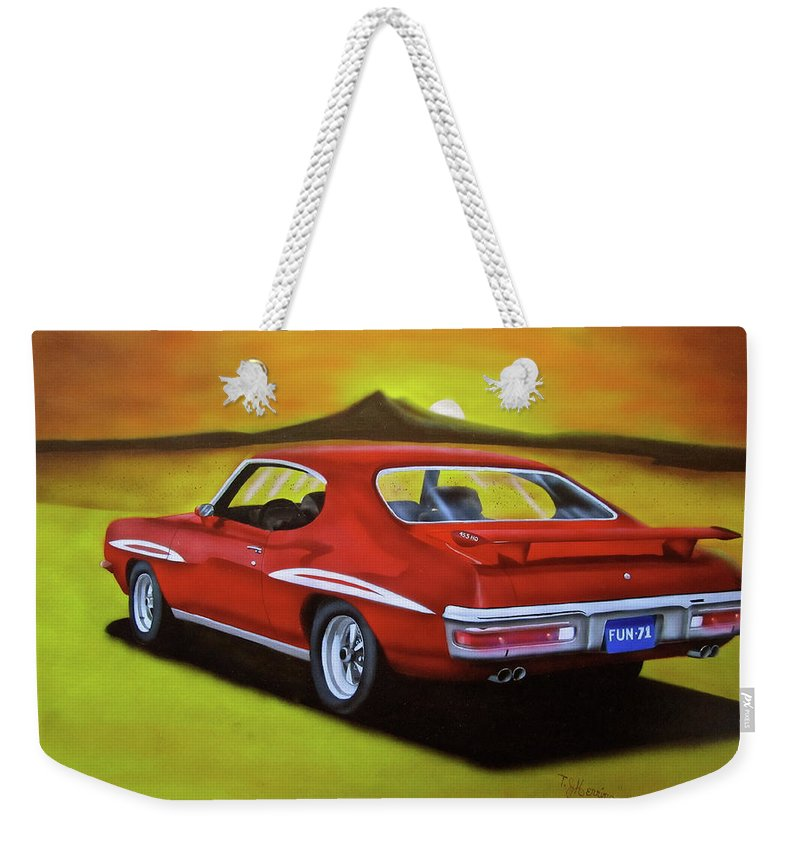 1971 Gto Weekender Tote Bag featuring the painting Gto 1971 by Thomas J Herring
