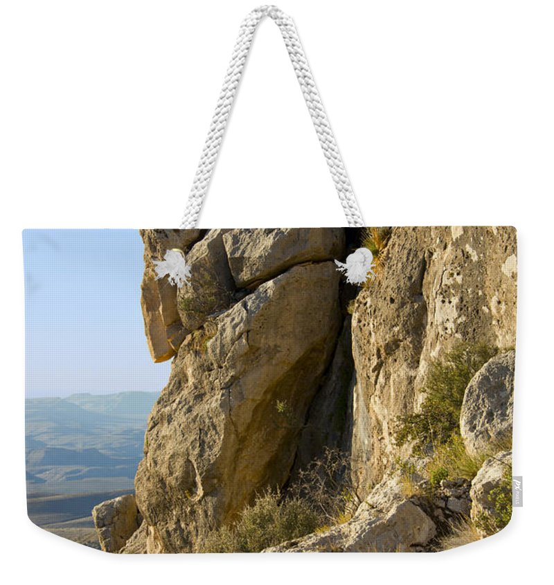Guadalupe Mountains National Park Texas Guadalupe Peak Trail Trails Mountain Rock Rocks Landscape Landscapes Weekender Tote Bag featuring the photograph Guadalupe Peak Trail by Bob Phillips
