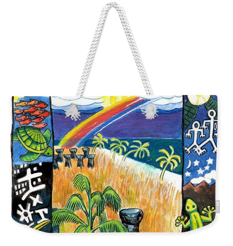 Guam Weekender Tote Bag featuring the painting Guam by Genevieve Esson